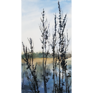 Cawthorne Winter Walk II-watercolour-Julia Brown