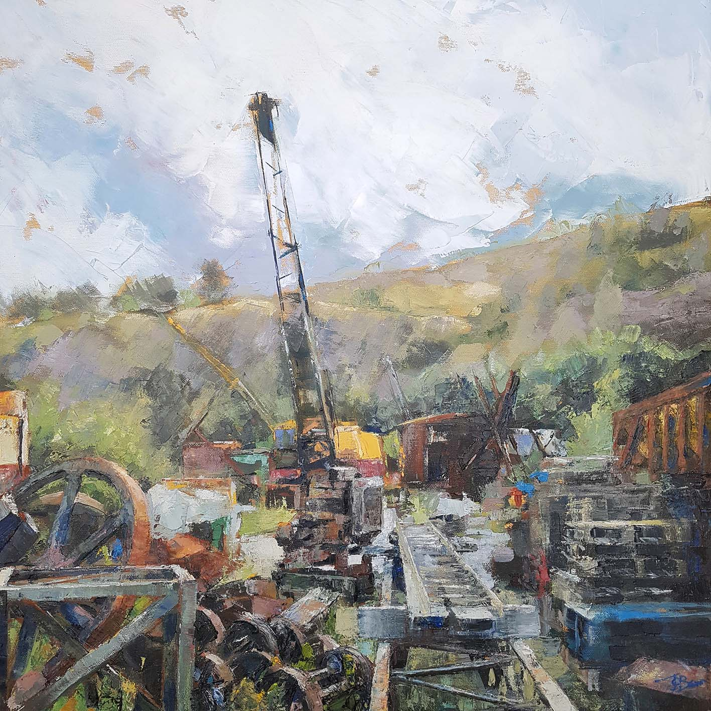 Threlkeld II 2020, Oil on canvas, 61 x 61 x 3.8cm | Julia Brown