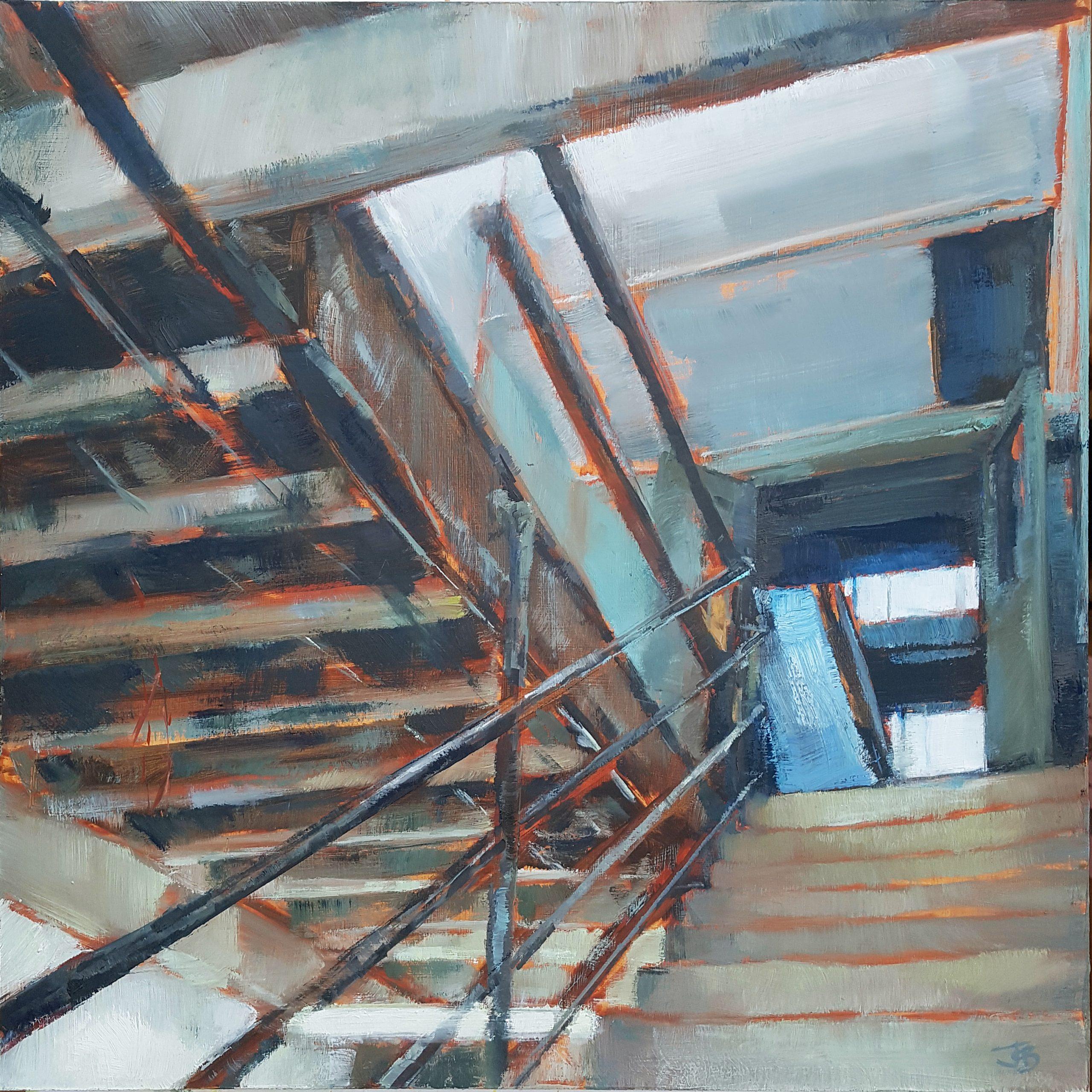 Core, 2020, Oil on board, 45 x 45cm | Julia Brown