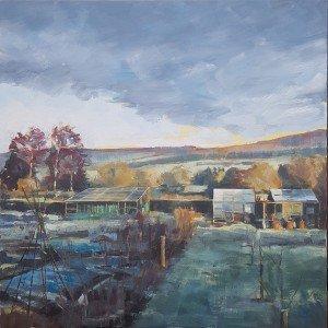Fallow, 2020, Oil on canvas, 60 x 60 x 3.8cm | Julia Brown