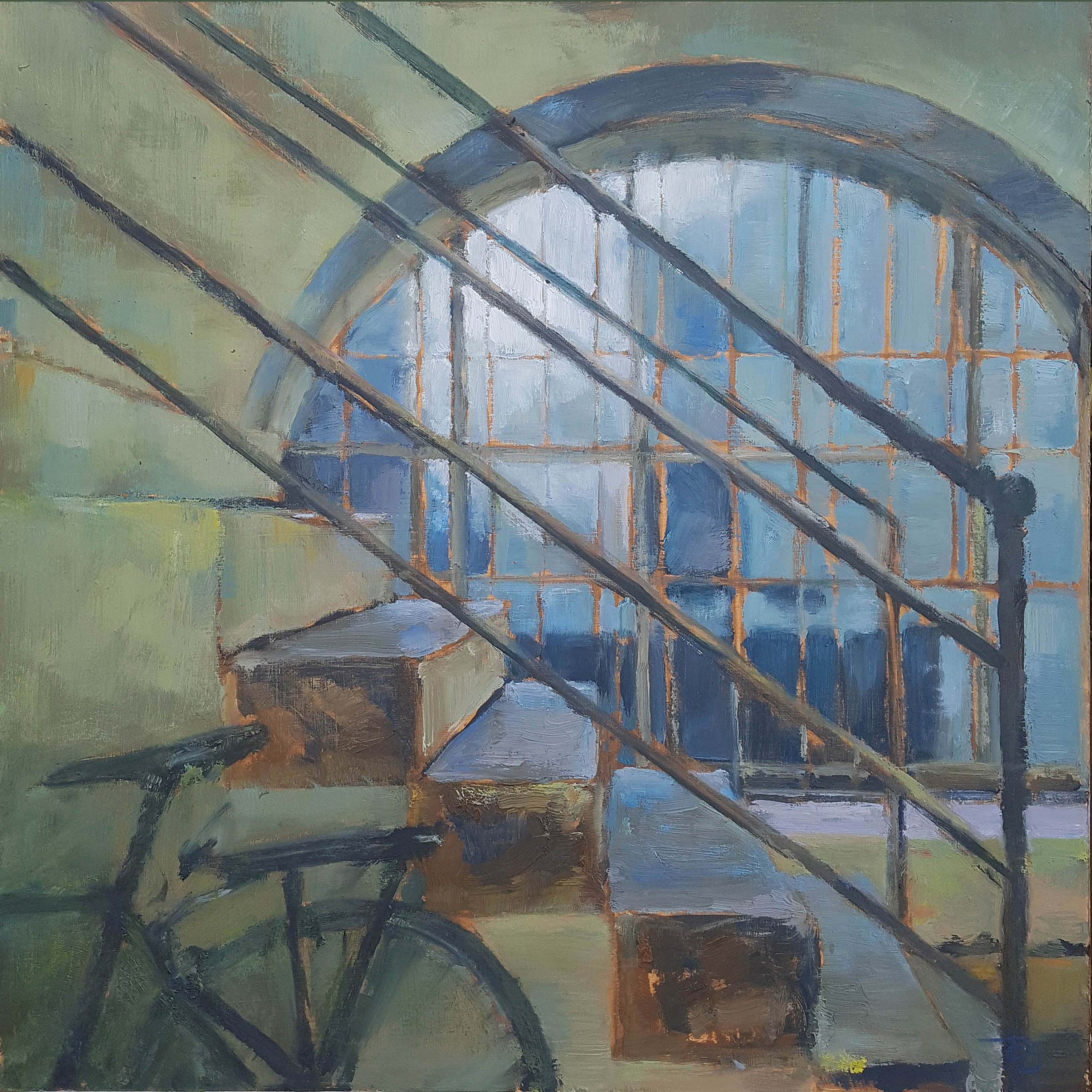 Arch, 2020, Oil on board, 45 x 45cm | Julia Brown