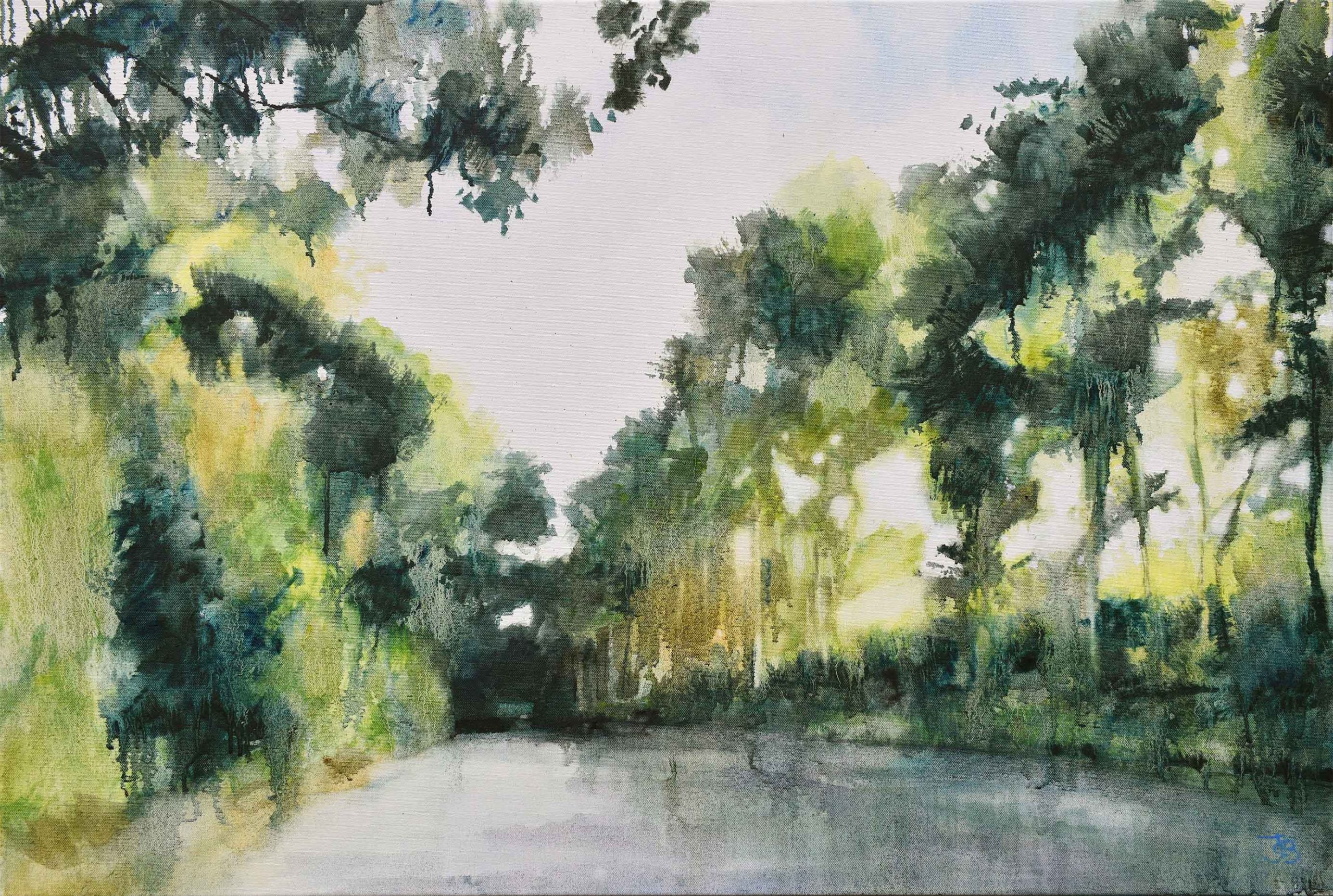 Flicker, 2020, Oil on canvas, 61 x 91.4cm | Julia Brown